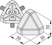 Verbindungssatz 6 30x30-45°, grau ähnlich RAL 7042