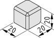Verbinder-Abdeckkappe 5 20x20x20, schwarz