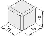 Verbinder-Abdeckkappe 6 30x30x30, grau ähnlich RAL 7042