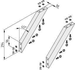 Diagonalstrebensatz 8 300x30