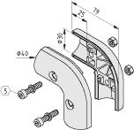 Stoßverbinder D30-90° R25