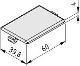 Equerre automatique, cache 8 40x40, noir semblable RAL 9005