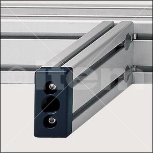Pneumatik-Anschlussplatte 8 80x40 R1/2″, schwarz