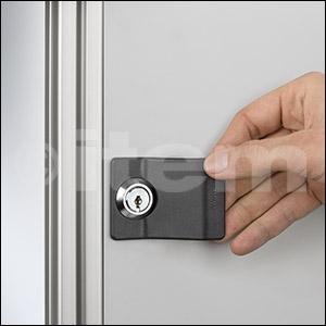 Sistema di chiusura 6, serratura cilindrica con impugnatura, chiusura a sinistra