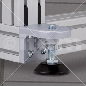 Stellfußsockel 8 D80, weißaluminium ähnlich RAL 9006