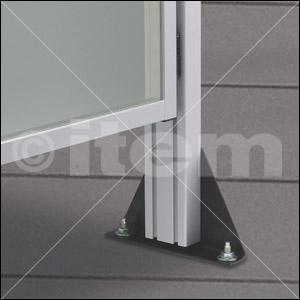 Stellfuß 8 240x160, schwarz