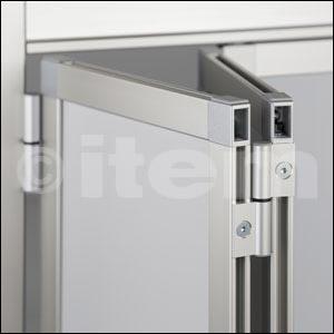 Cerniera per porta a soffietto in alluminio per profilato di bloccaggio 8 32x18