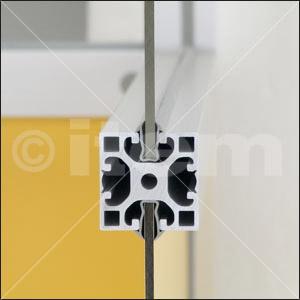 Einfassprofil 8 4-6mm, grau ähnlich RAL 7042