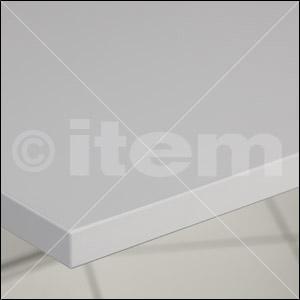 Tischplatte 25-1200x750 kunststoffbeschichtet, grau ähnlich RAL 7035