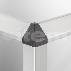 Verbindungssatz 8 40x40-2x45°, schwarz
