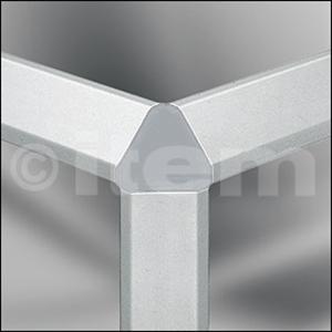 Verbinder-Abdeckkappe 8 40x40-45°, grau ähnlich RAL 7042