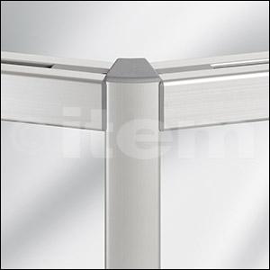 Radien-Dichtung 8 40x40, grau ähnlich RAL 7042