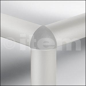 Verbinder-Abdeckkappe 6 R30-90°, grau ähnlich RAL 7042