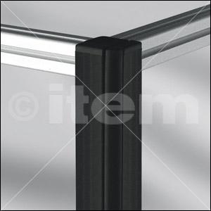 Profilé de protection 8 40x16 R16, noir