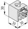 Connettore 6 30x30 E - Profilato di bloccaggio