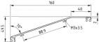 Trägerprofil 160-20°, natur
