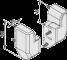 Rahmenprofil-Eckverbindungssatz 8 60x40 180°
