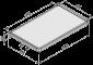 Tablett 1x180° 1500 ESD W